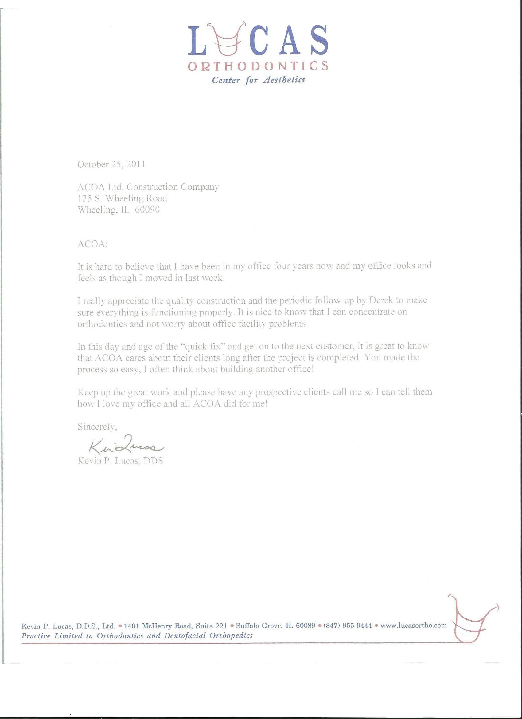 Dr Lucas reference letter